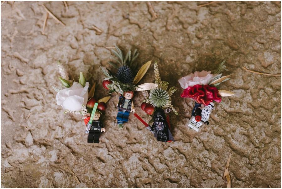 detalles star wars boda flores
