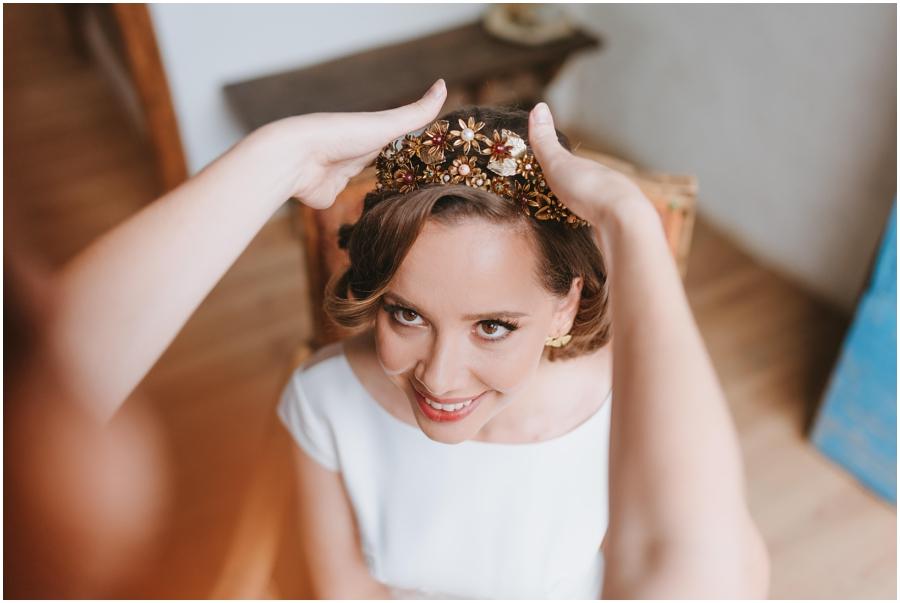 boda aire libre avellana tarragona corona novia