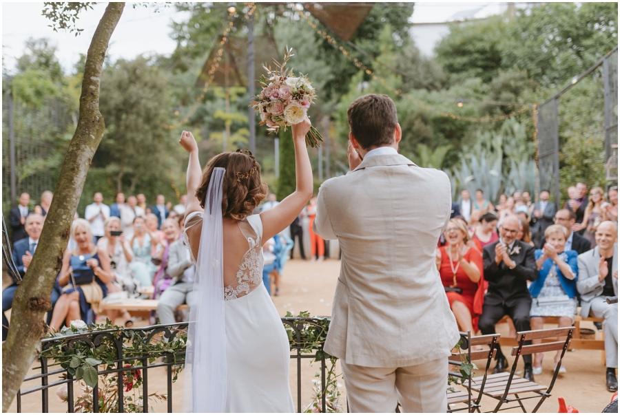boda aire libre avellana tarragona beso