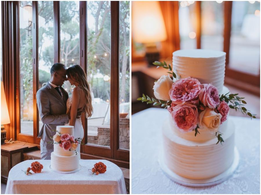 Destination wedding en la Costa Brava Spain Cake