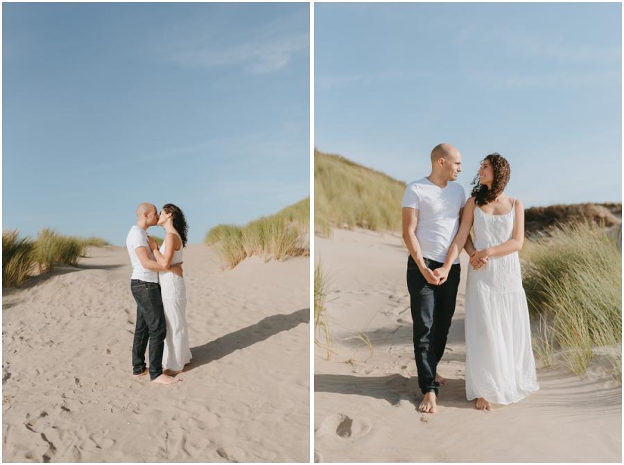 Sesión en Holanda fotografías en las dunas