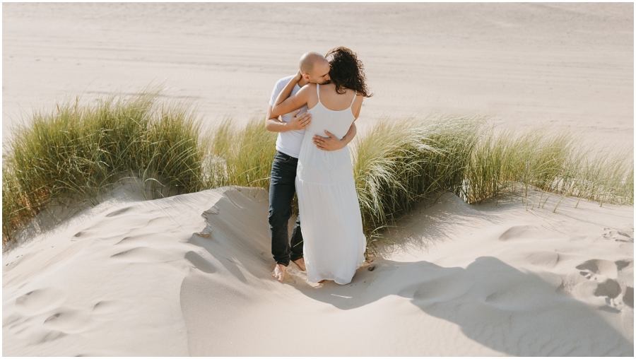 Sesión de fotos en Holanda preboda en las dunas