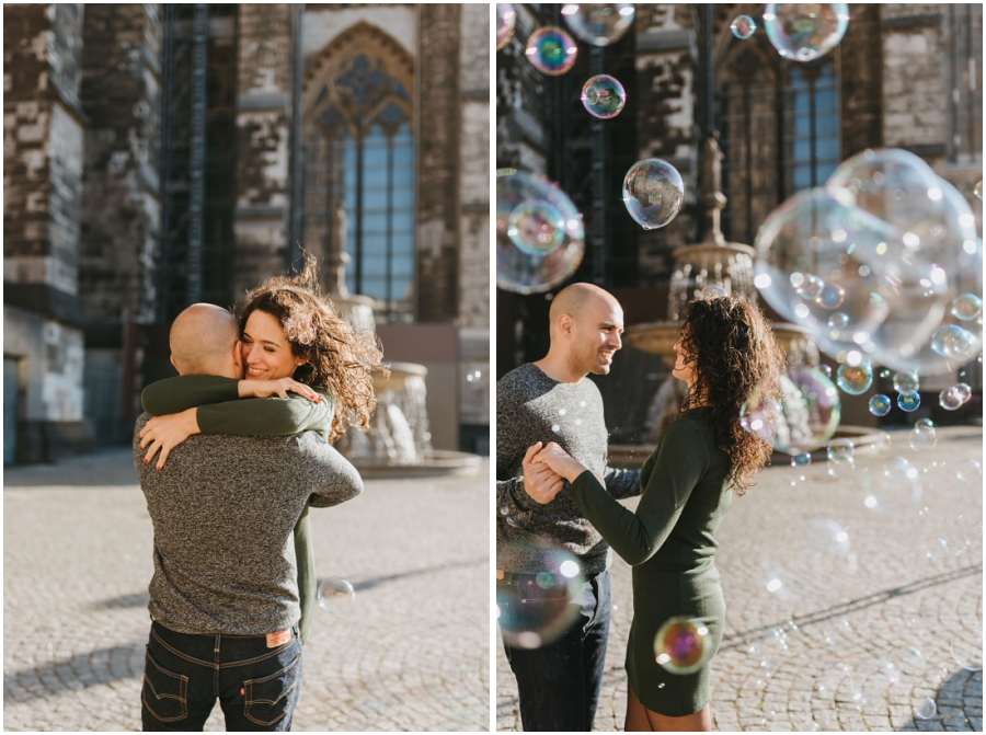Fotos Preboda Colonia ciudad Alemania Germany engagement photosession