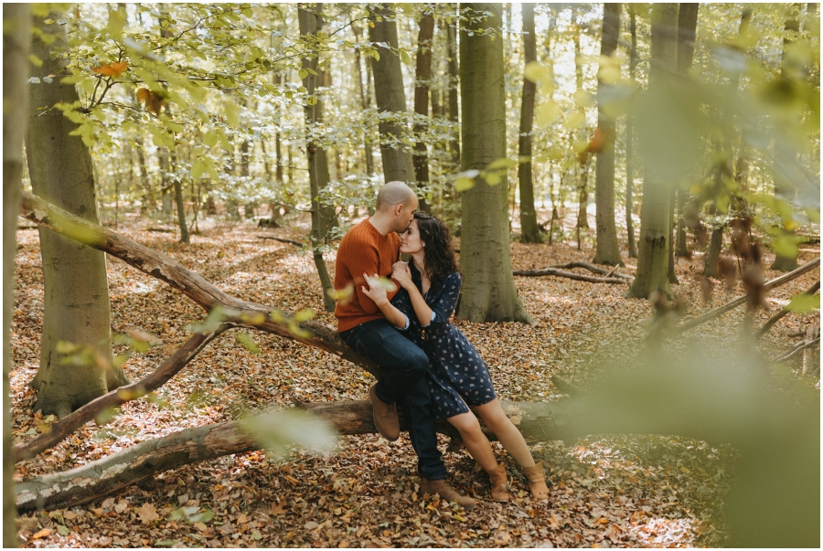 Fotos Preboda Bosque Forest engagement session photography