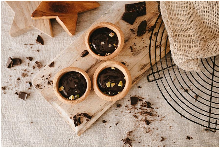 chocolate pistachos tartaletas food photography fotografia gastronomica