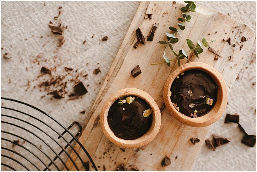 chocolate pistacho tartaletas food photography fotografia gastronomica