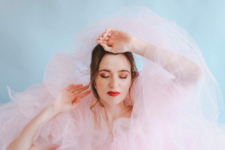 El vestido rosa salido de un sueño